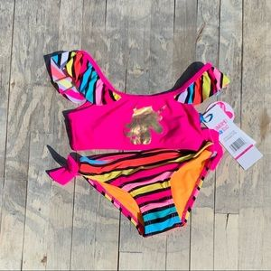 Limited Too Pink Unicorn Bathing Suit Size 2T